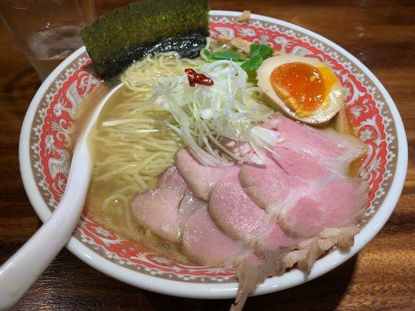 「限定 コク鶏塩そば」@純水煮干し中華そば 幻庵の写真