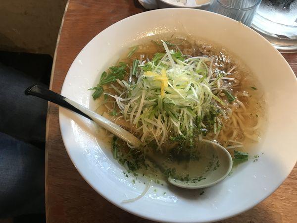 「鶏ごぼうラーメン(醤油)」@麺家 花蔵の写真