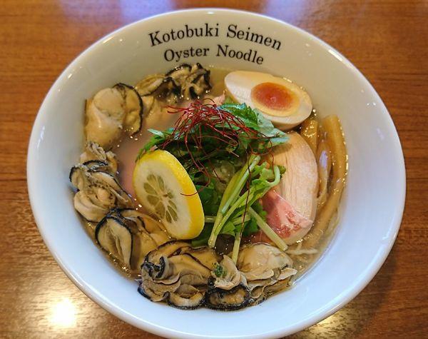 「カキそば特製(1130円)」@寿製麺よしかわ 川越店の写真