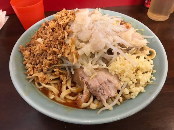 「辛いラーメン400g 揚げネギ」@龍麺 ふえ郎の写真