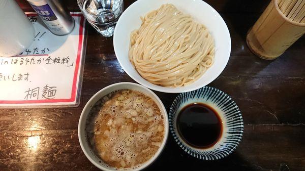 「醤油つけ麺大盛 950円」@らーめん 桐麺 本店の写真