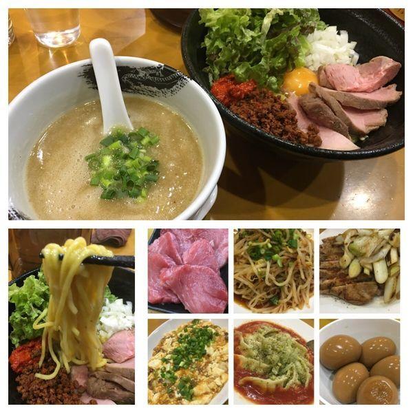 「限定 辛玉まぜつけ麺 900円+他色々」@麺屋 扇 SENの写真