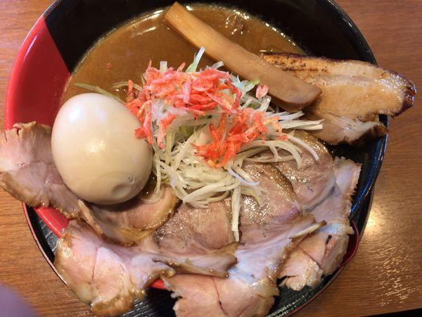 「大晦日限定:海老味噌らーめん900円+味玉100円」@ゆいが 総本店の写真