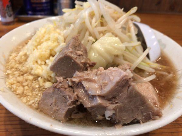 「ラーメン・ニンニクマシマシ730円」@麺とび六方 長野店の写真