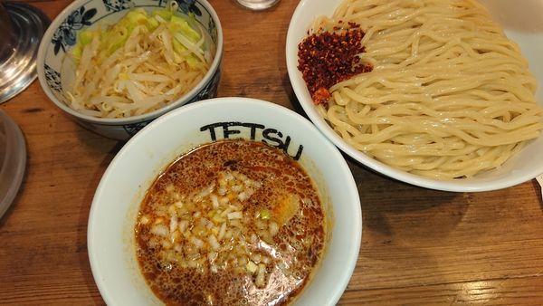 「野菜辛いつけめん(1070円)特盛無料」@つけめんTETSU 横浜ランドマークプラザ店の写真