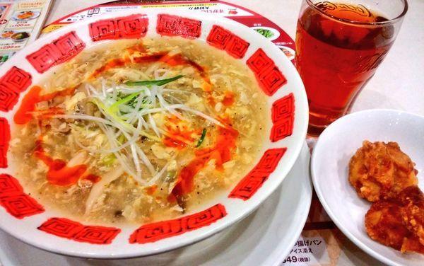 「お好み麺ランチ(酸辣湯麺+からあげ2個)」@バーミヤン みなとみらい店の写真