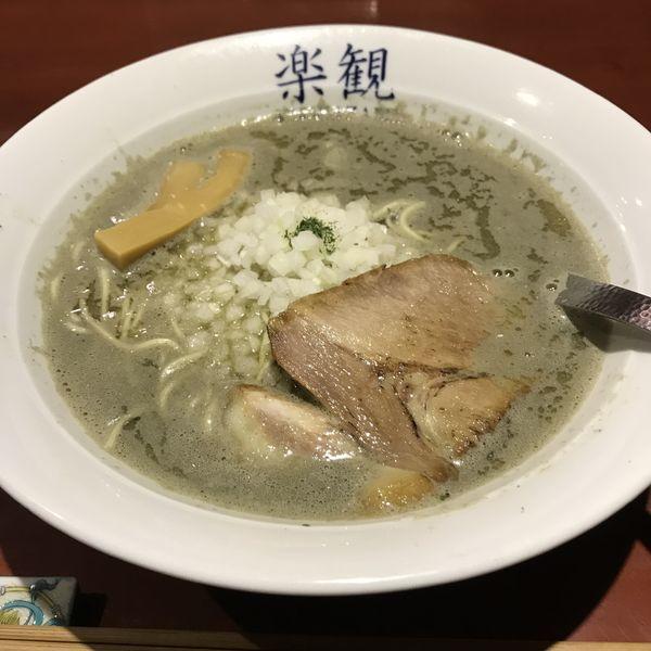 「煮干しらぁめん(普通)(¥800)※」@楽観 青山店の写真