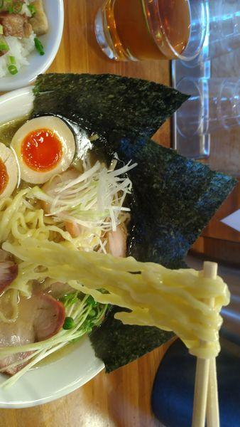 「特製塩そば大盛(手もみ麺)」@麺処 いち林の写真