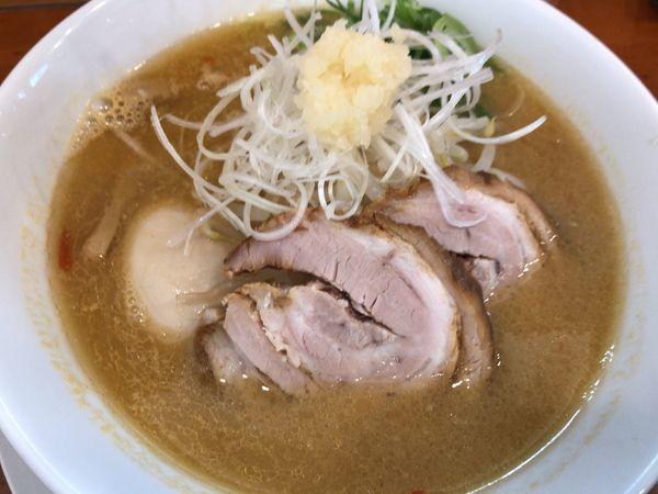 「冬限定:しょうがナ味噌らぁ麺890円+味玉クーポン無料」@らぁ麺屋 晴天の写真