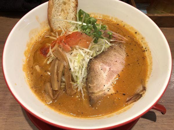 「濃厚海老ラーメン(旨辛)」@海老鶏麺蔵の写真