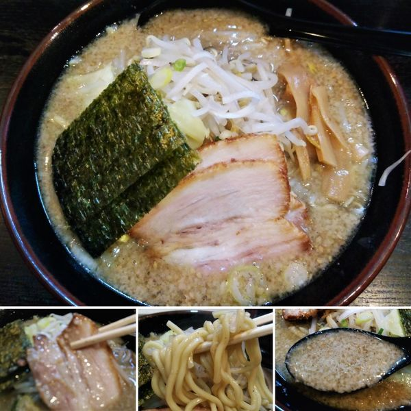 「とんこく背脂黒ごま味噌ラーメン  700円」@ハッスルラーメンホンマ 浅草店の写真