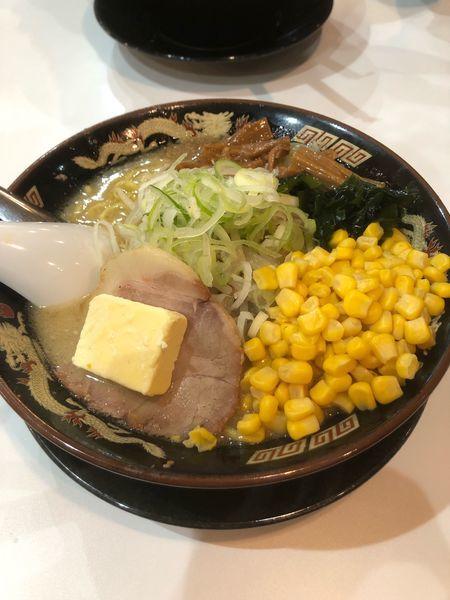 「札幌味噌らーめん+バター+コーン」@北海道らーめん みそ熊 北千住店の写真