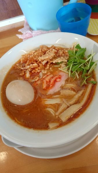 「甘エビ白湯ラーメン   900円」@らーめん食堂 ゆうき屋の写真