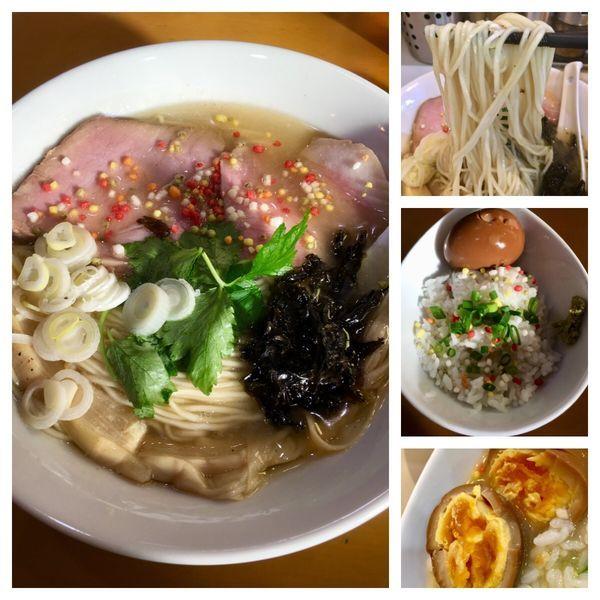 「年始限定 名古屋コーチンと煮干しの塩そば 800円」@麺屋 扇 SENの写真