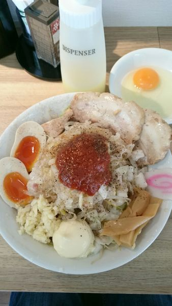 「まぜそば  780円」@麺屋 富味の写真