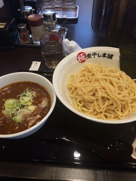 「辛煮干豚骨つけ麺375g 930円」@極煮干し本舗 蘇我店の写真