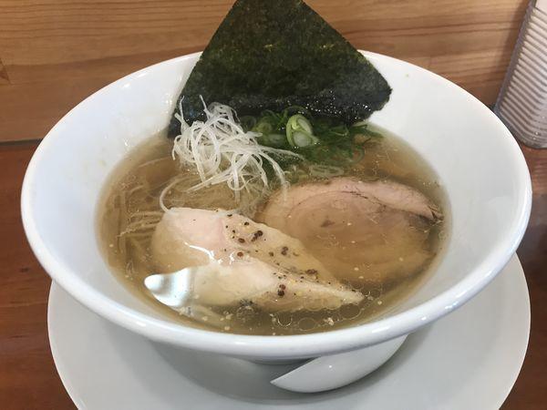 「塩らぁ麺 800円」@らぁ麺屋 晴天の写真