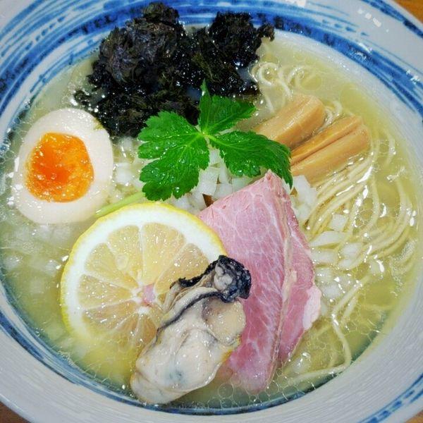 「【夜のみ期間限定】濃密牡蠣そば 850円」@麺屋 むじゃきの写真