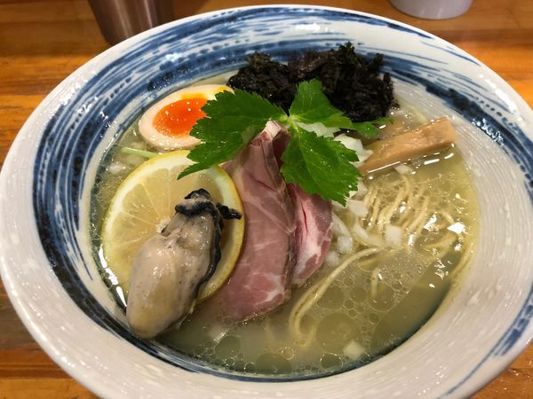 「【夜限定】濃密牡蠣そば850円」@麺屋 むじゃきの写真