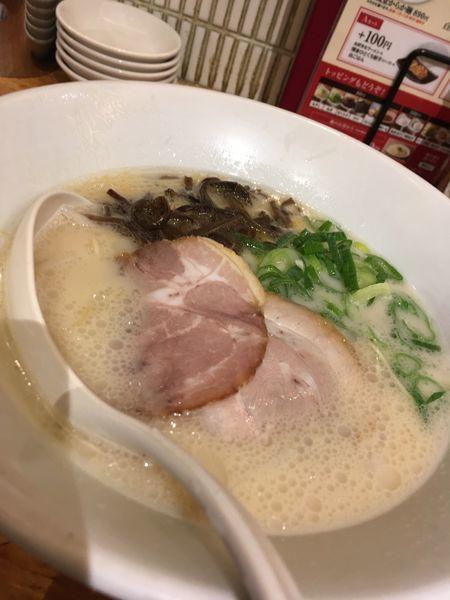 「白丸元味Aセット890円」@博多一風堂 銀座店の写真