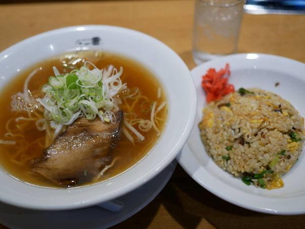 「ラーメンセット 麺硬め」@江南 柳橋本店の写真