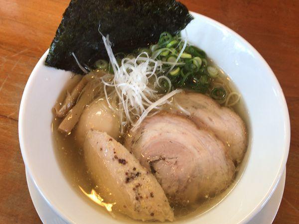 「塩らぁ麺800円」@らぁ麺屋 晴天の写真
