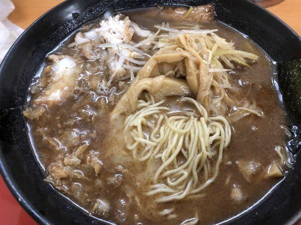 「かすそば(極細麺)」@くりの木 上尾店の写真