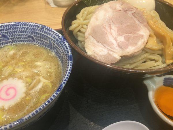 「エビつけ麺並300g ¥830、味玉¥100」@舎鈴 田町駅前店の写真