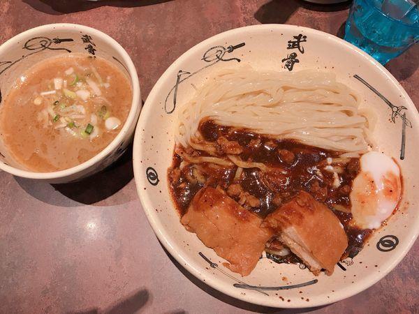 「外伝濃厚つけ麺 黒 中盛り (1200円)」@麺屋武蔵 武骨外伝の写真