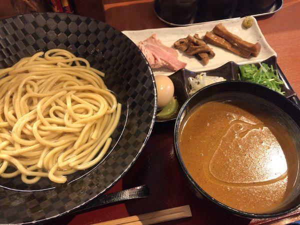 「ベジポタつけ麺 あつもり 味玉 割り飯」@二代目めん屋 秋もとの写真
