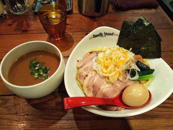 「濃厚サバトンつけ麺・全部のせトッピング」@裏Noodle Stand Tokyoの写真