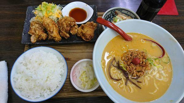 「担々麺 ランチセット」@次男坊ラーメン 鵜沼店の写真