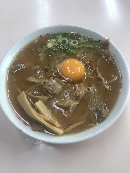 「中華そば(中肉)+生卵」@中華そば いのたに 本店の写真
