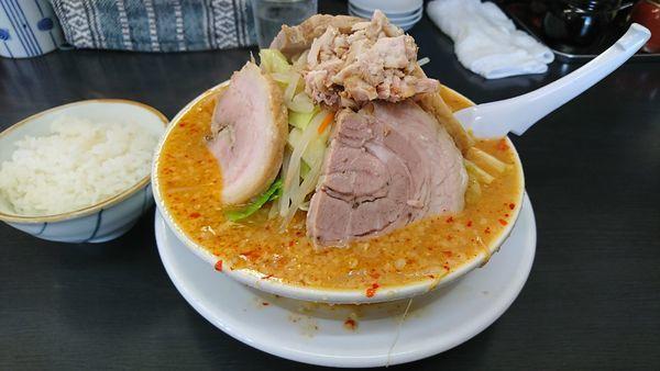 「野菜味噌チャーシュー」@萬馬軒 諏訪店の写真