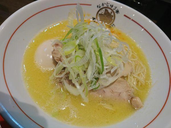 「鶏白湯味玉塩らぁめん」@らーめんや なかじゅう亭 高崎オーパ店の写真