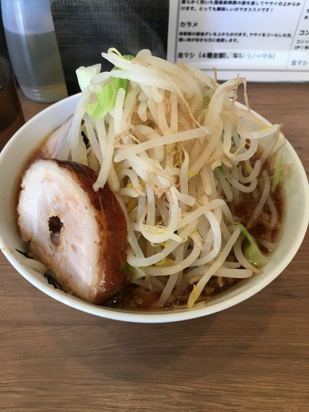「らーめん 【焼豚×3枚 野菜マシ】」@らーめん 小烏丸の写真