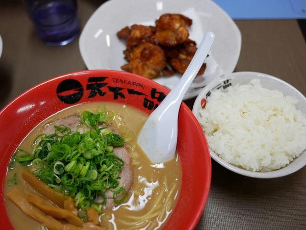 「唐揚げ定食、通称K定 麺硬め」@天下一品 錦糸町店の写真