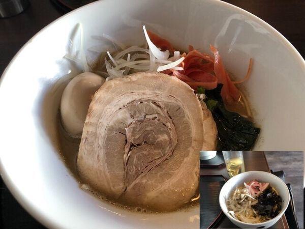 「【限定】味噌煮干し830円、和え玉250円、味玉」@麺処 学の写真