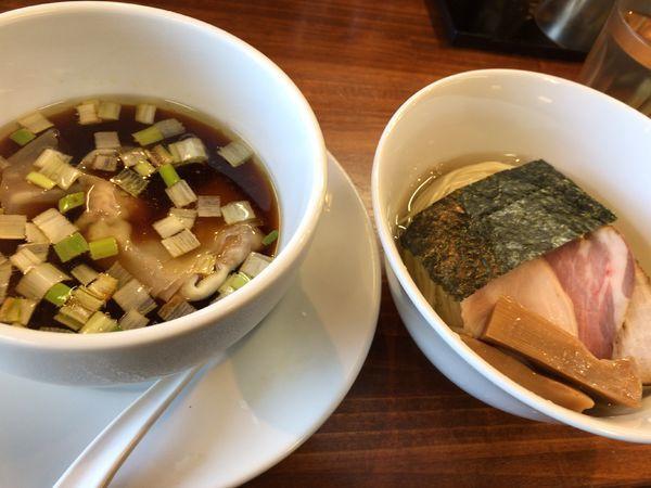 「特選醤油つけ麺」@塩らーめん 千茶屋の写真