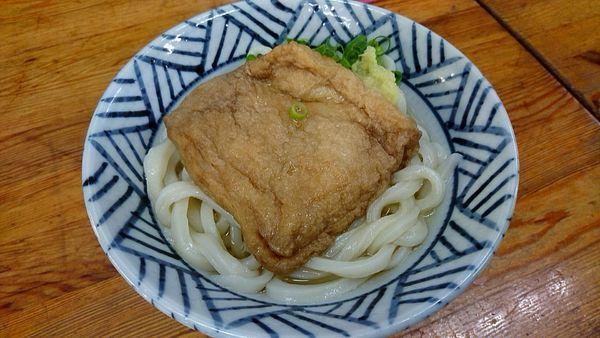「かけうどん190円+おあげ100円」@さか枝の写真