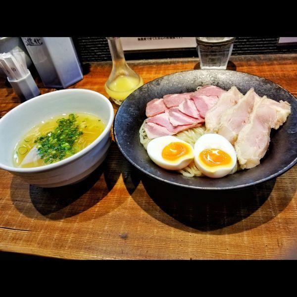 「塩つけ麺全部のせ」@町田汁場 しおらーめん 進化の写真
