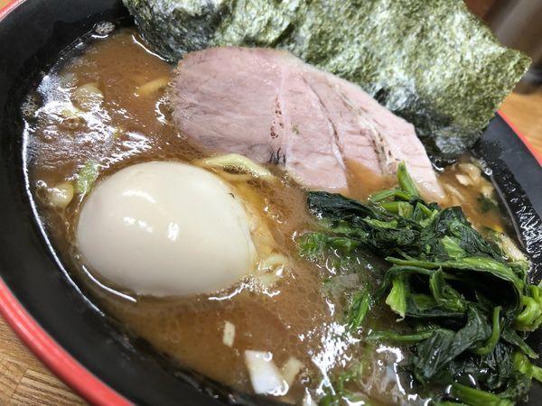 「ラーメン並+味玉」@麺家 紫極の写真