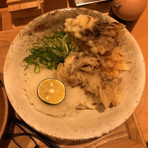 「まいたけ天おろし醤油うどん」@ふたば製麺の写真