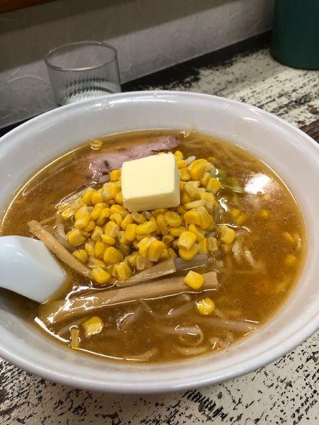 「バターコーン味噌」@手打 焔の写真