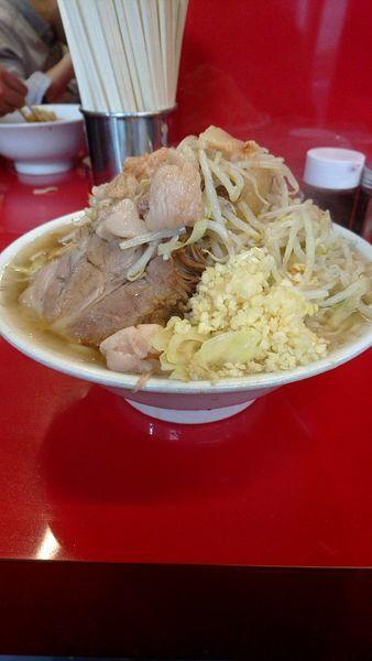「大ラーメン850円全部」@ラーメン二郎 西台駅前店の写真