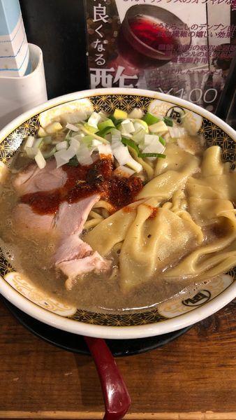 「こってり煮干ラーメン」@すごい煮干ラーメン凪 渋谷東口店の写真