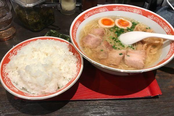 「塩ラーメン(750円)」@尾道ラーメン 麺一筋 新大塚店の写真