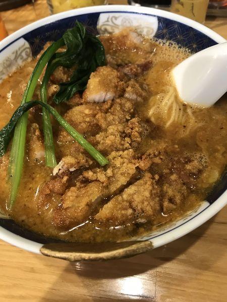 「排骨担々麺」@支那麺 はしご 赤坂店の写真