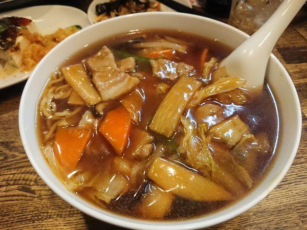 「広東麺 その他いろいろコースの〆です」@レバニラ定食 kei楽の写真