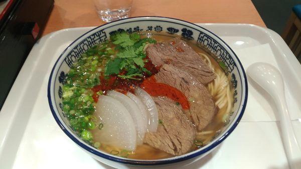 「蘭州牛肉麺」@薩斐蘭州牛肉麺 池袋店の写真